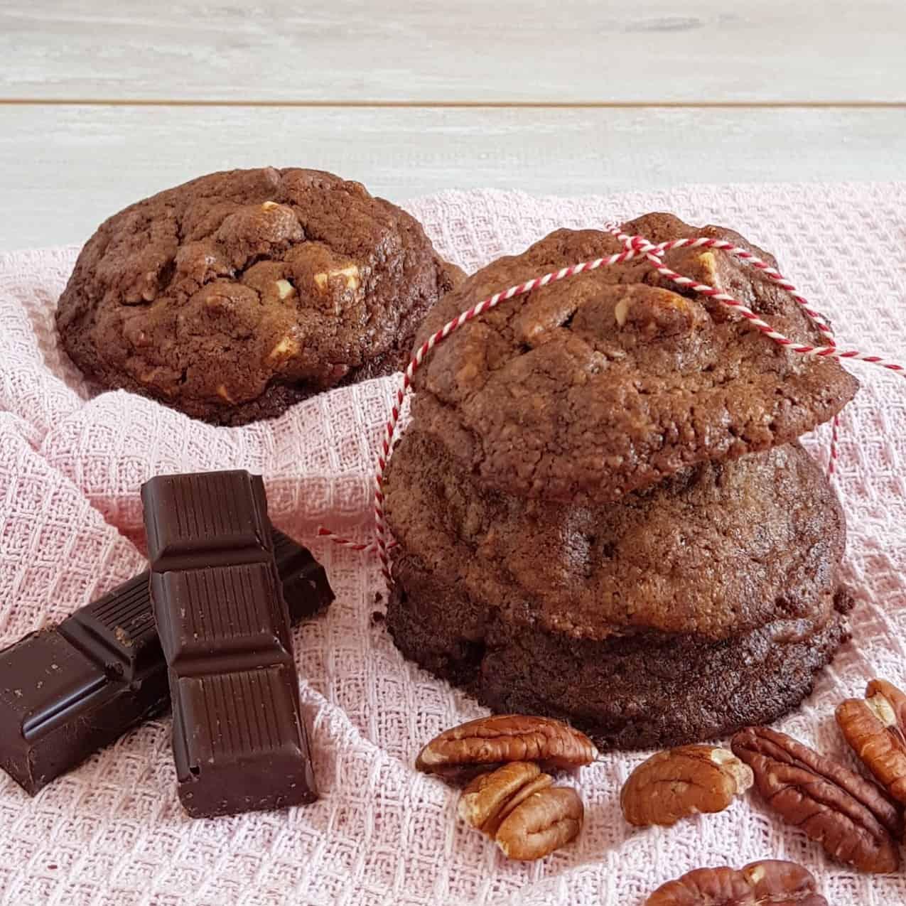 Chocoladekoekjes met pecan