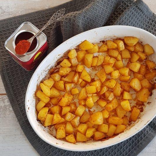 Paprika-aardappels uit de oven