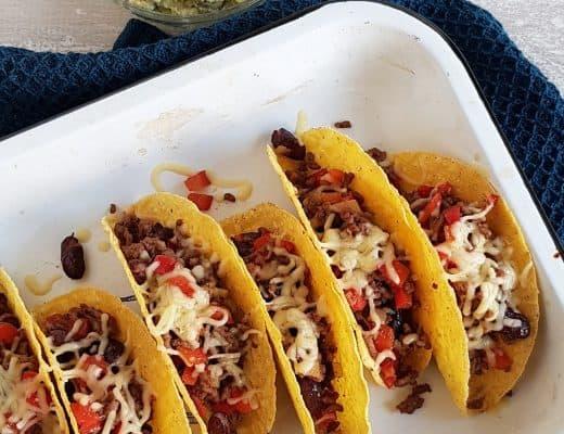 Taco's met gehakt en bonen