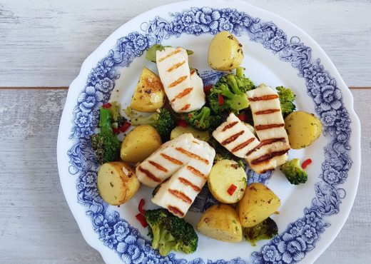 Halloumi aardappel salade