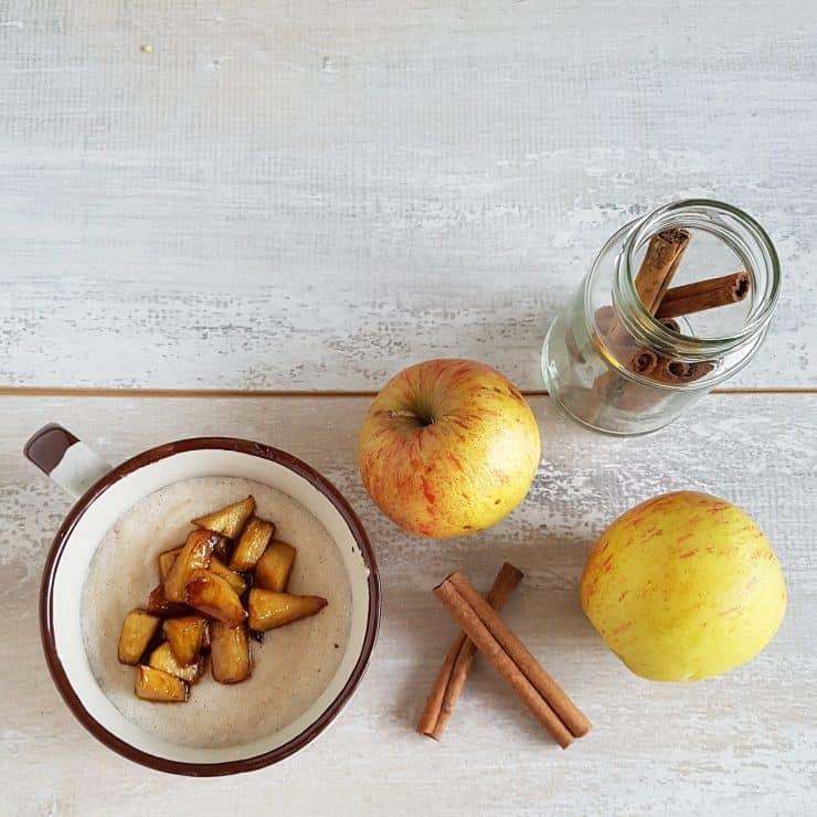 Griesmeelpap met appel en kaneel