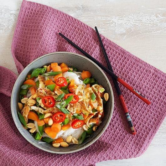 Mihoens met veel groenten (vega)