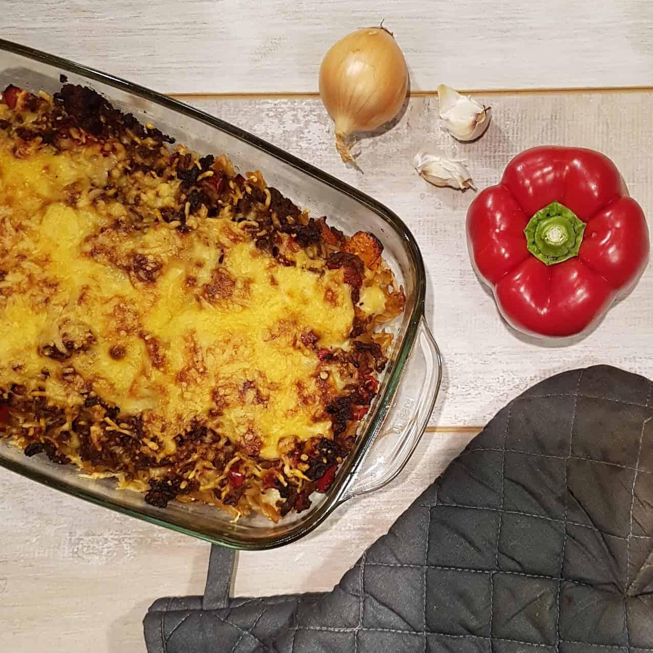 Pastitio - Griekse ovenschotel met gehakt en bechamelsaus