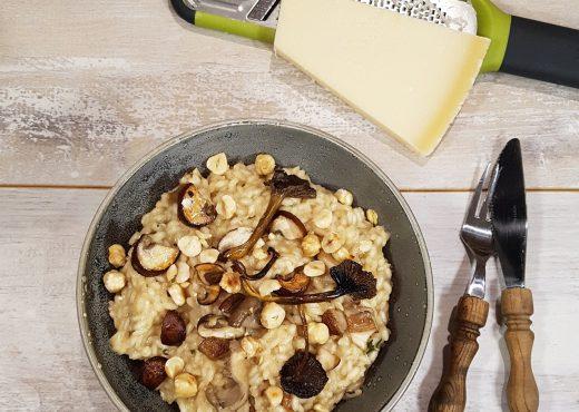 Paddenstoelenrisotto - een vegetarische risotto met paddenstoelen