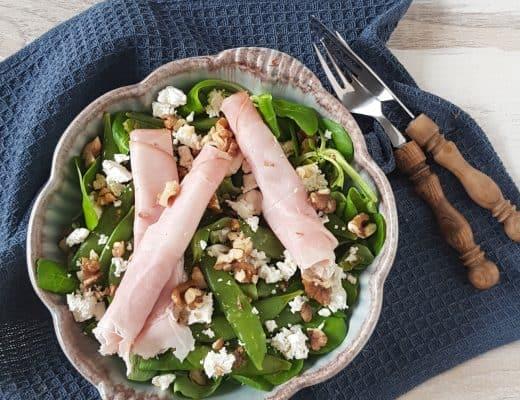 Lunchsalade met beenham