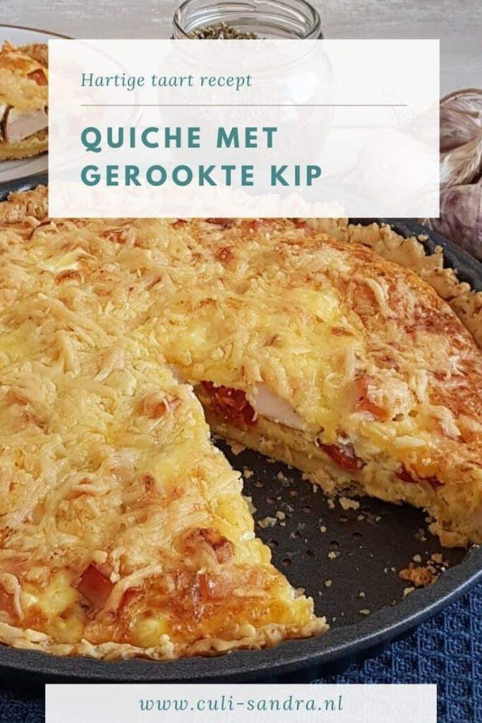 Recept quiche gerookte kip