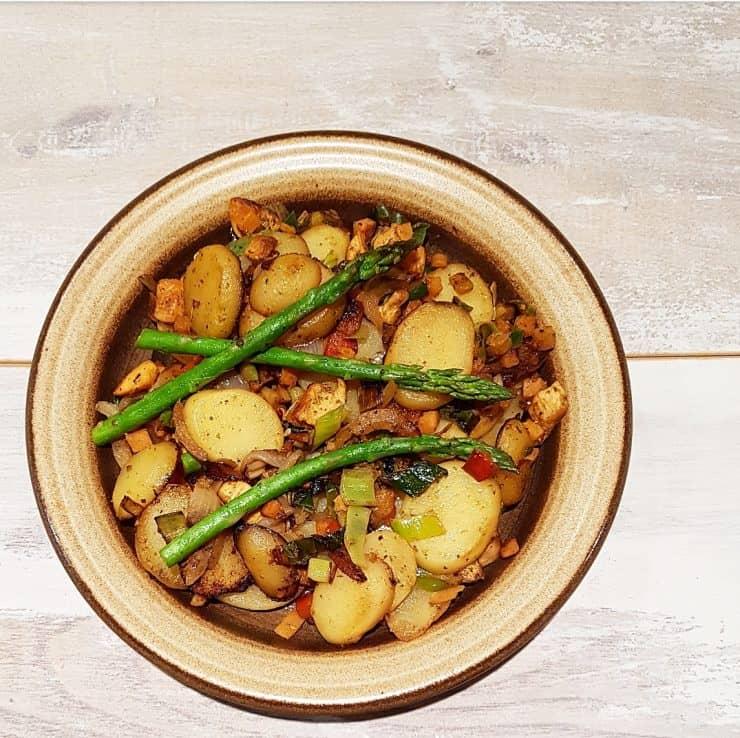 Kipschotel met aardappel en wokgroenten