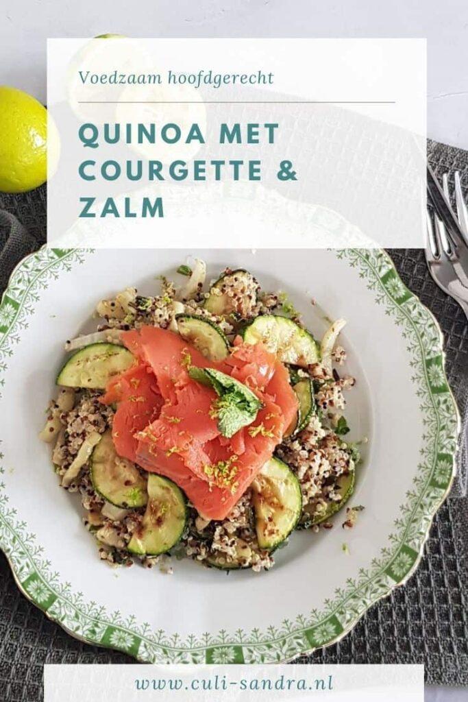 Recept quinoa met courgette en zalm