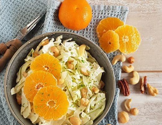 Spitskoolsalade met mandarijn
