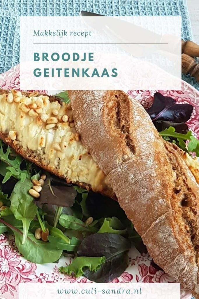 Recept broodje geitenkaas uit de oven