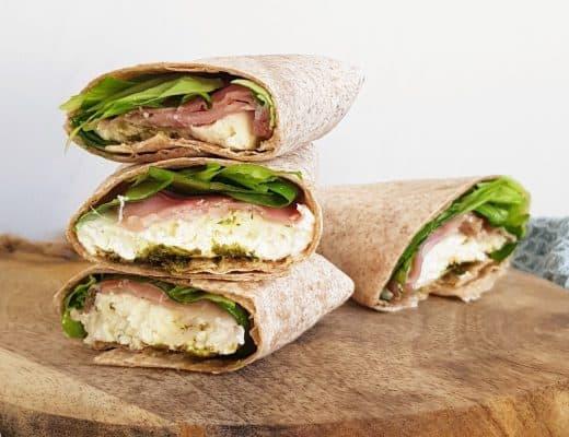Wrap rauwe ham mozzarella
