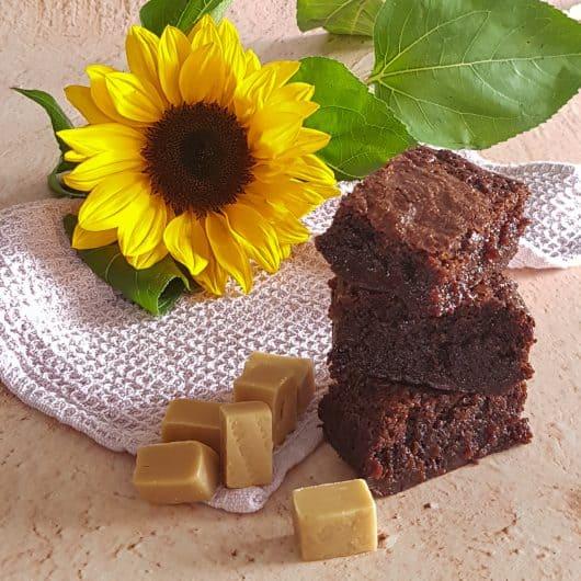 Brownies met karamel en butterscotch