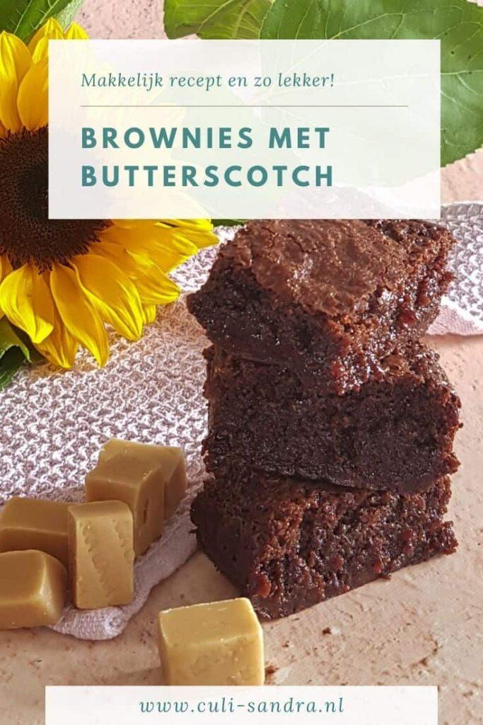 Recept brownies butterscotch