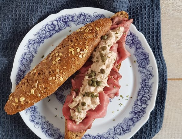 Broodje rosbief en tonijn