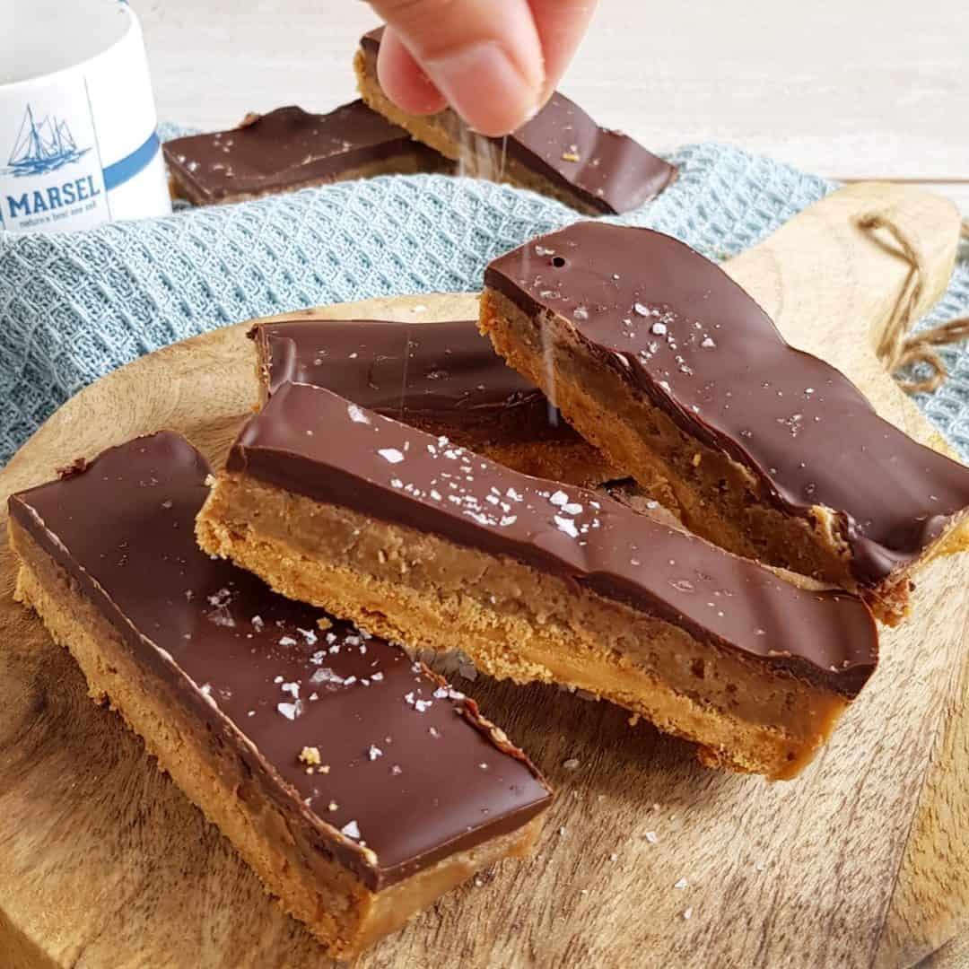 Chocolade karamel repen - Twix repen