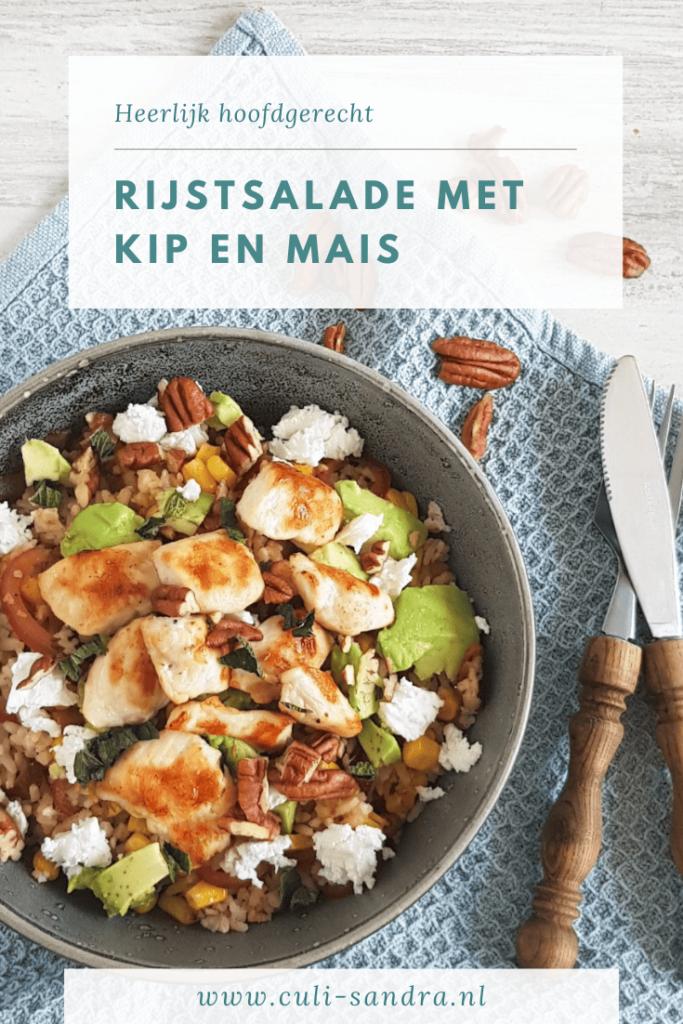 Recept rijstsalade met kip
