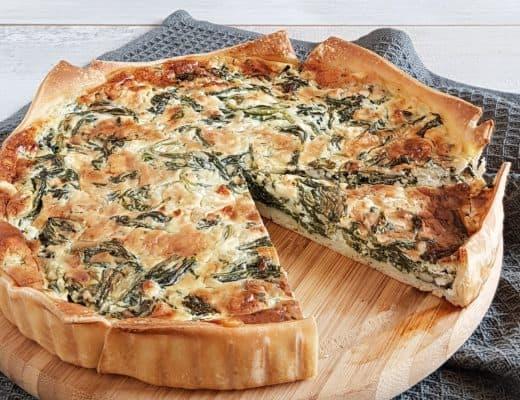 Quiche met spinazie en blauwe kaas
