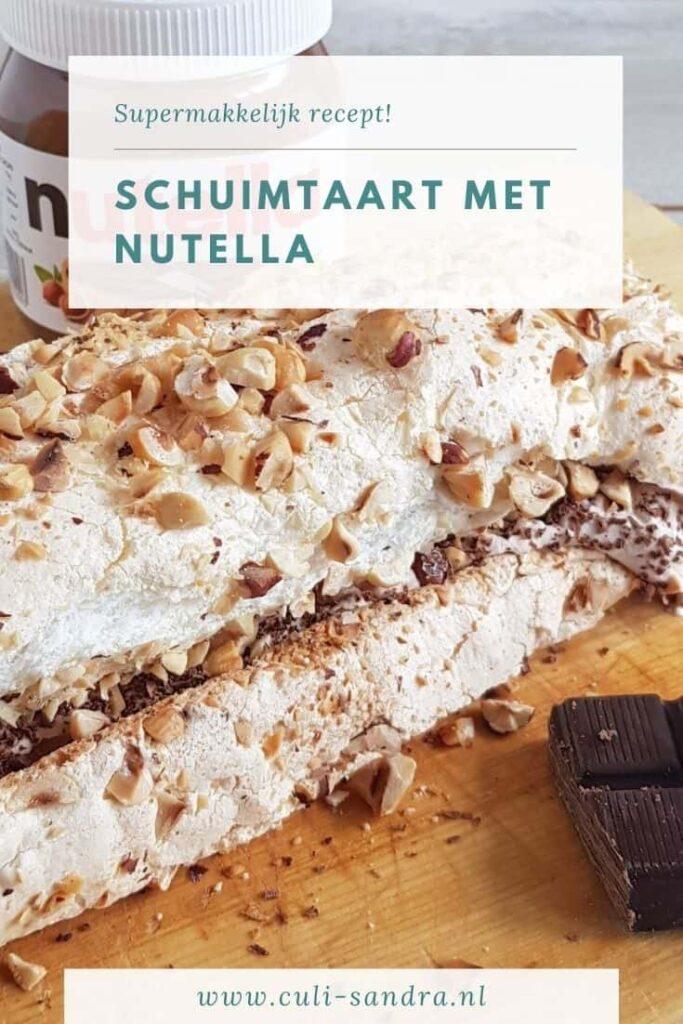 Recept Nutella schuimtaart