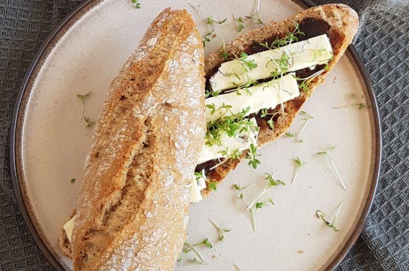 Recept broodje gorgonzola met appelstroop en tuinkers
