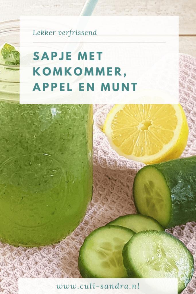 Recept sapje met komkommer, appel en munt