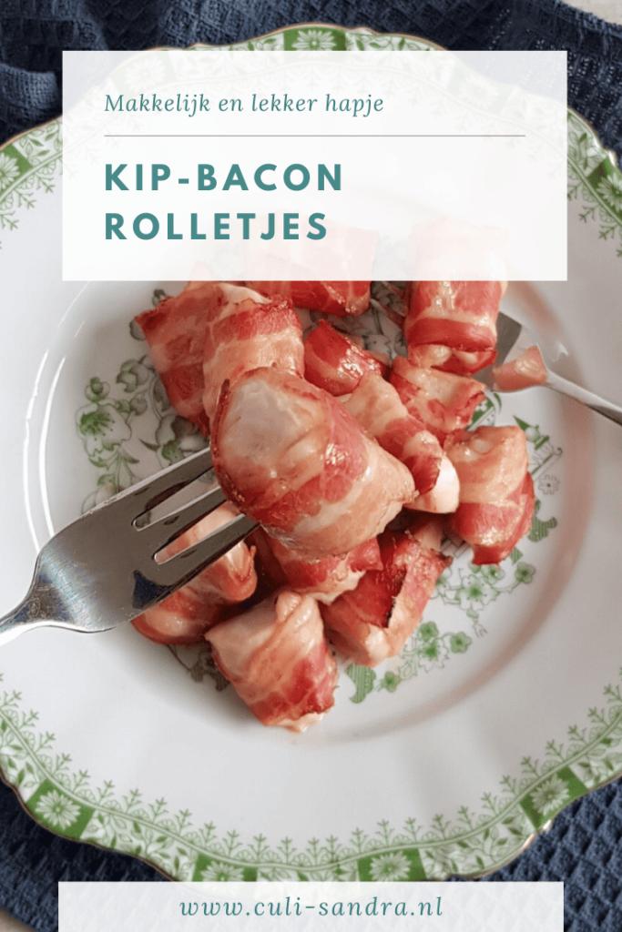 Recept kip-bacon rolletjes