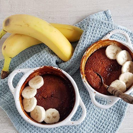 Bananenpudding met zoute karamel