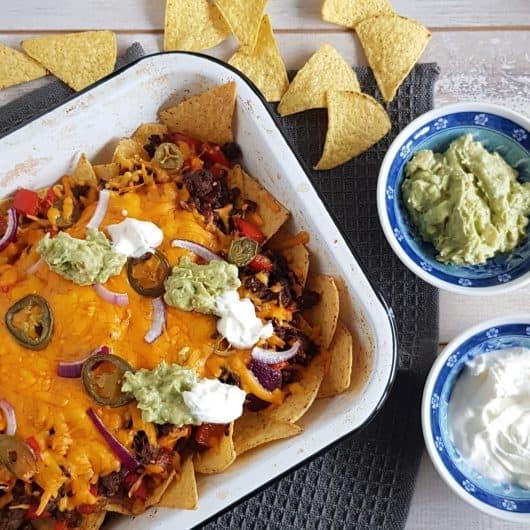 Recept nachos met gehakt en zure room