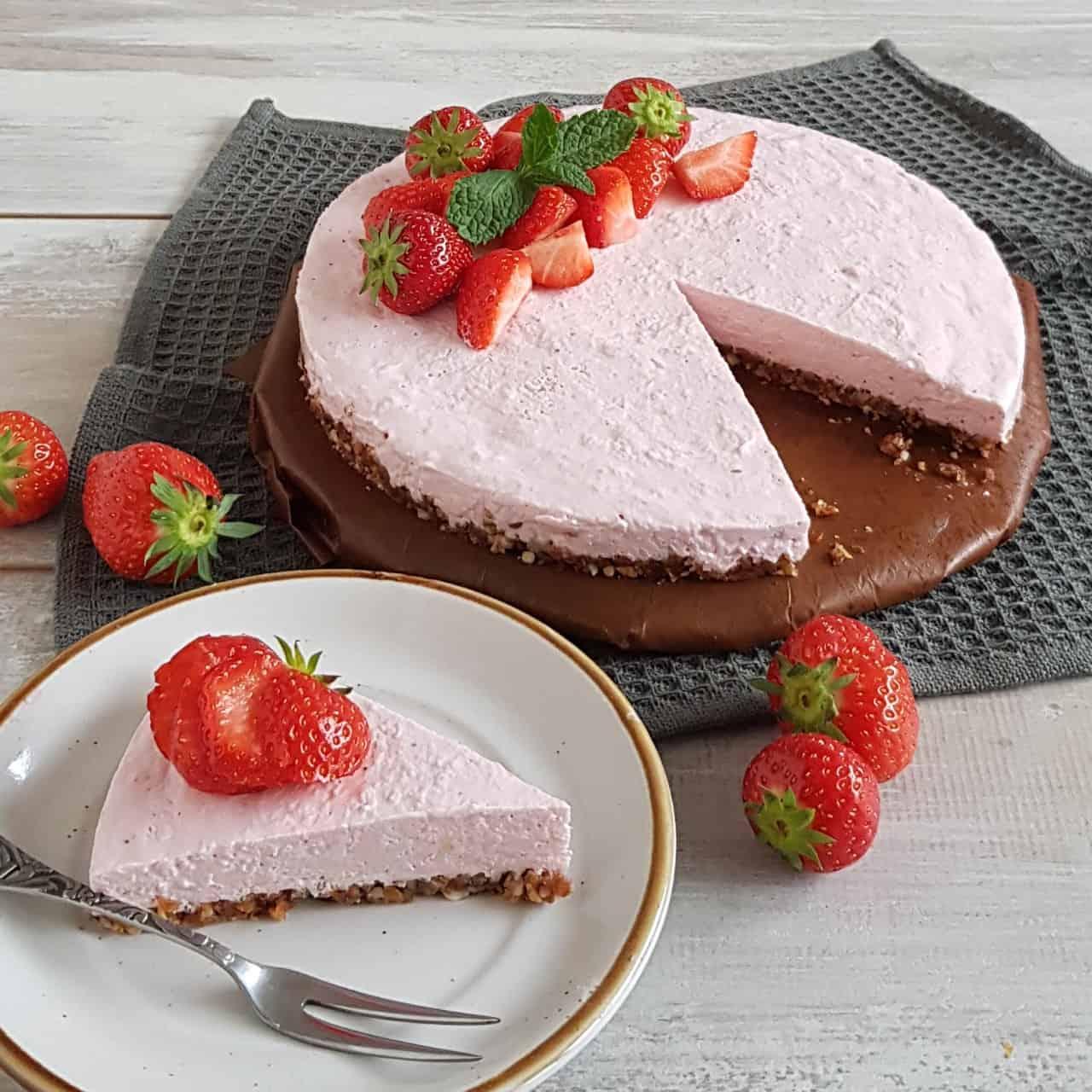 Ontbijttaart met aardbeien