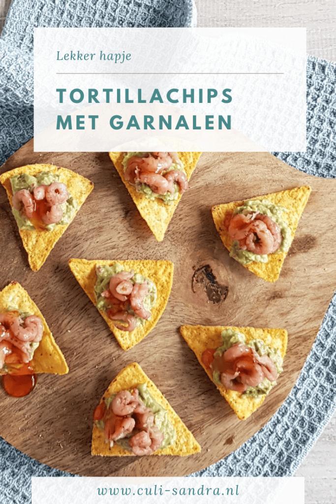 Tortillachips met garnalen