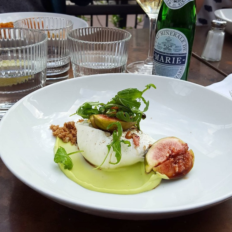 Burrata bij Morgan&Mees in Amsterdam