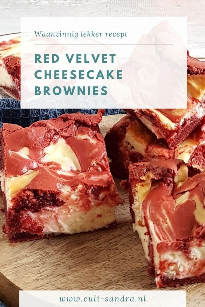 Recept red velvet cheesecake brownies