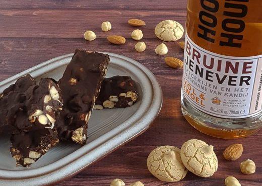 Chocolade met noten, rozijnen en jenever
