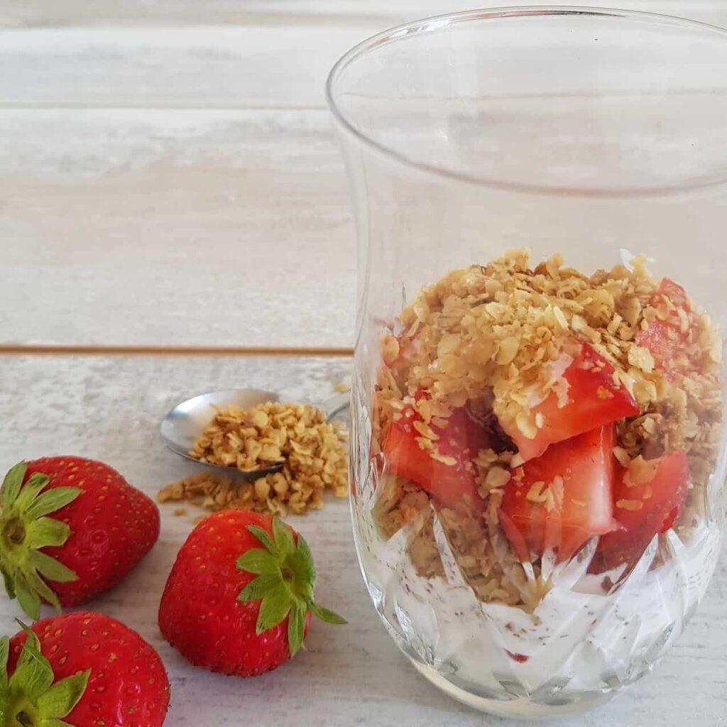Recept cranachan met aardbeien