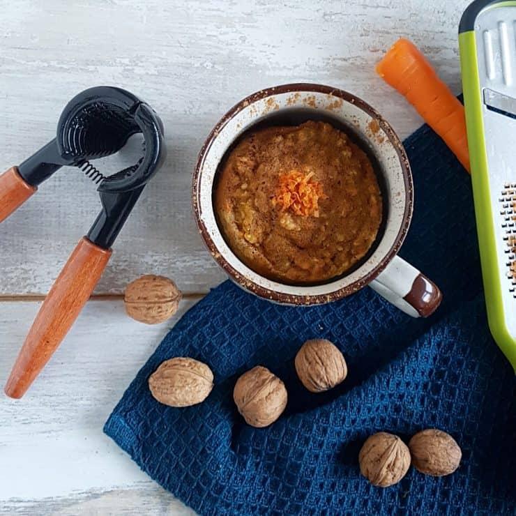 Carrot Mugcake - gezonde mugcake