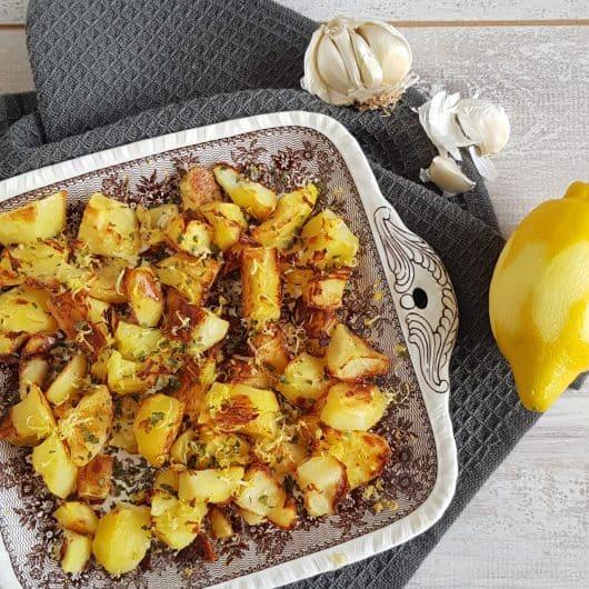 Gebakken aardappels met citroen en Parmezaan