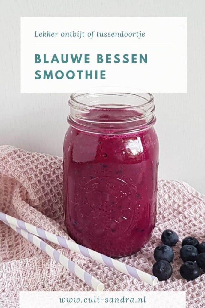 Recept blauwe bessen smoothie