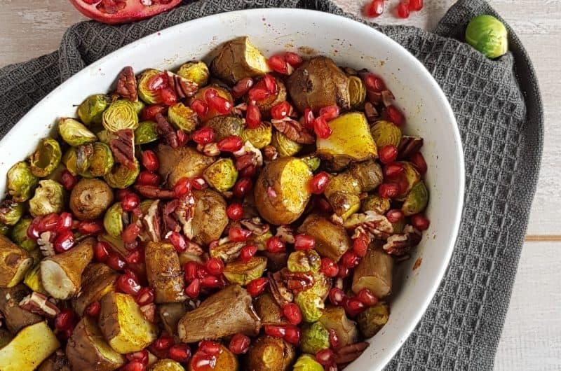 Recept spruitjes uit de oven met noten & ahornsiroop