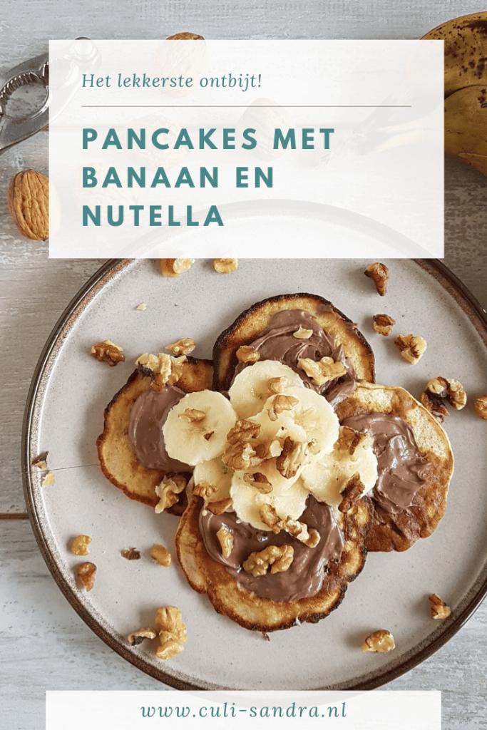 Recept pannenkoeken met Nutella en banaan