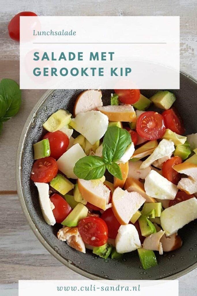 Recept salade met gerookte kip