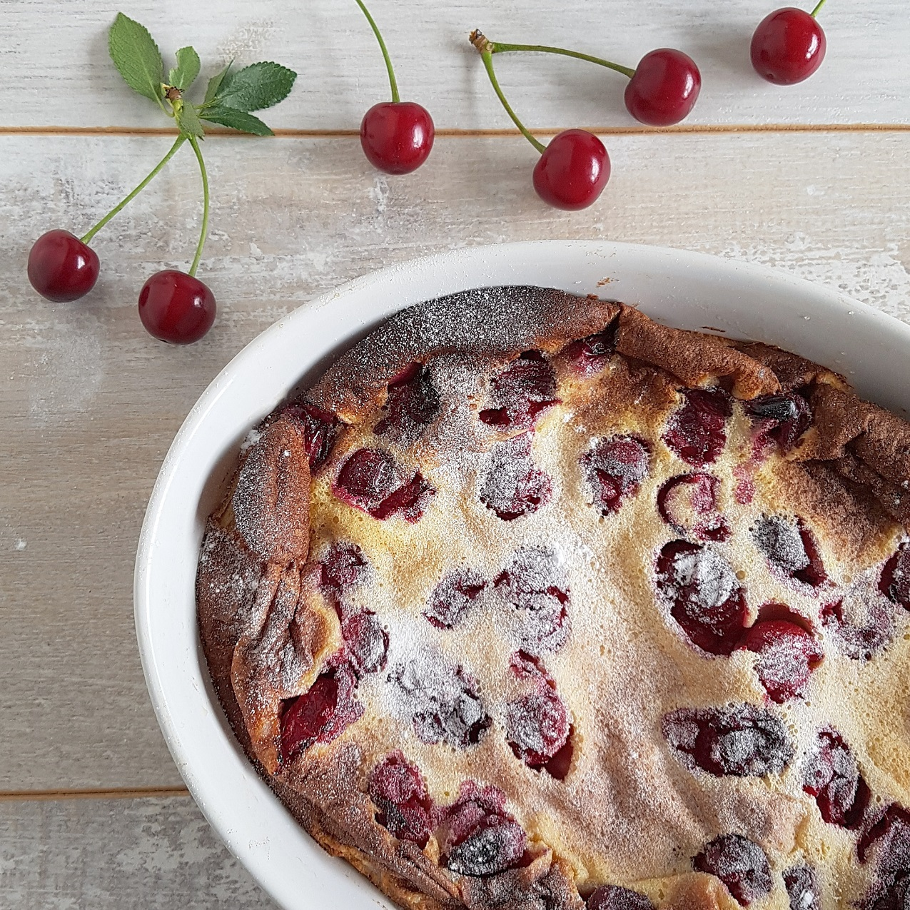 Kersenclafouts - clafoutis met vanille