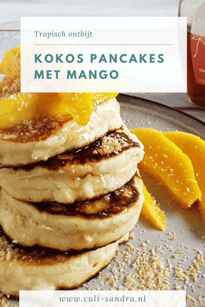 Recept kokos pancakes met mango