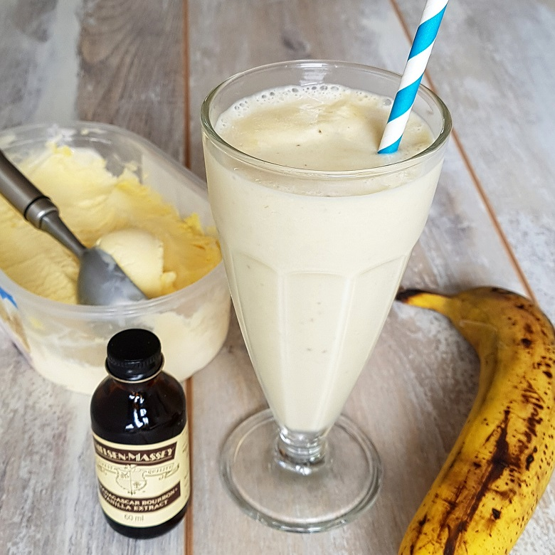 Milkshake banaan & vanille