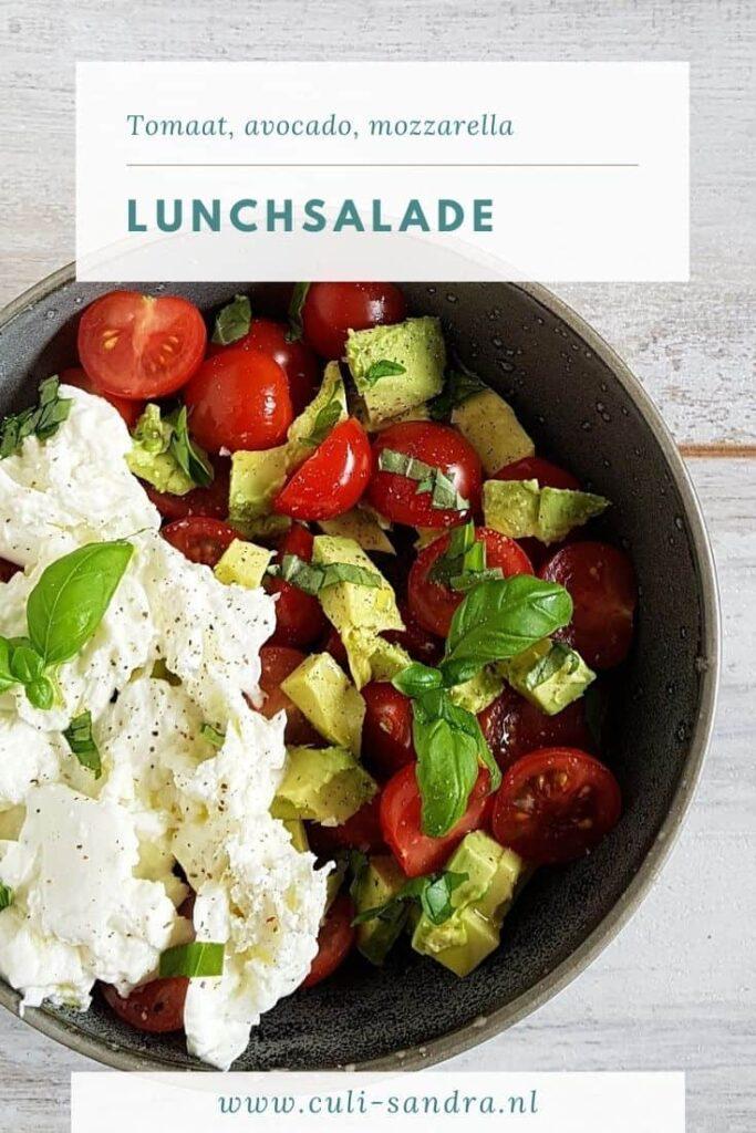 Recept salade met tomaat, avocado en mozzarella