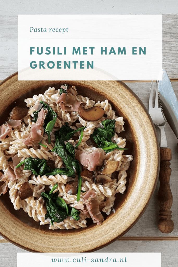 Recept pasta met rauwe ham