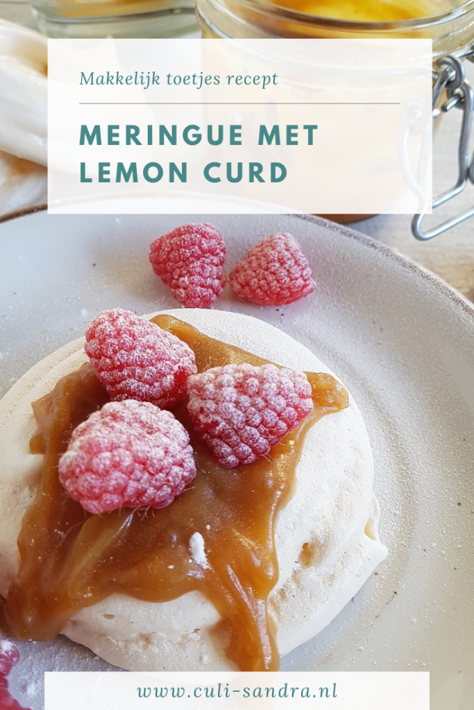 Toetje meringue lemon curd