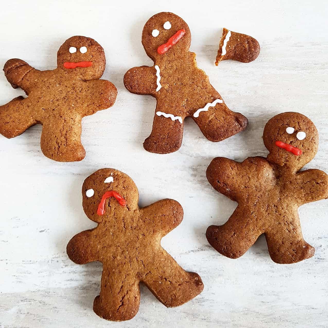 Peperkoek mannetjes - ook wel bekend als zombie koekjes