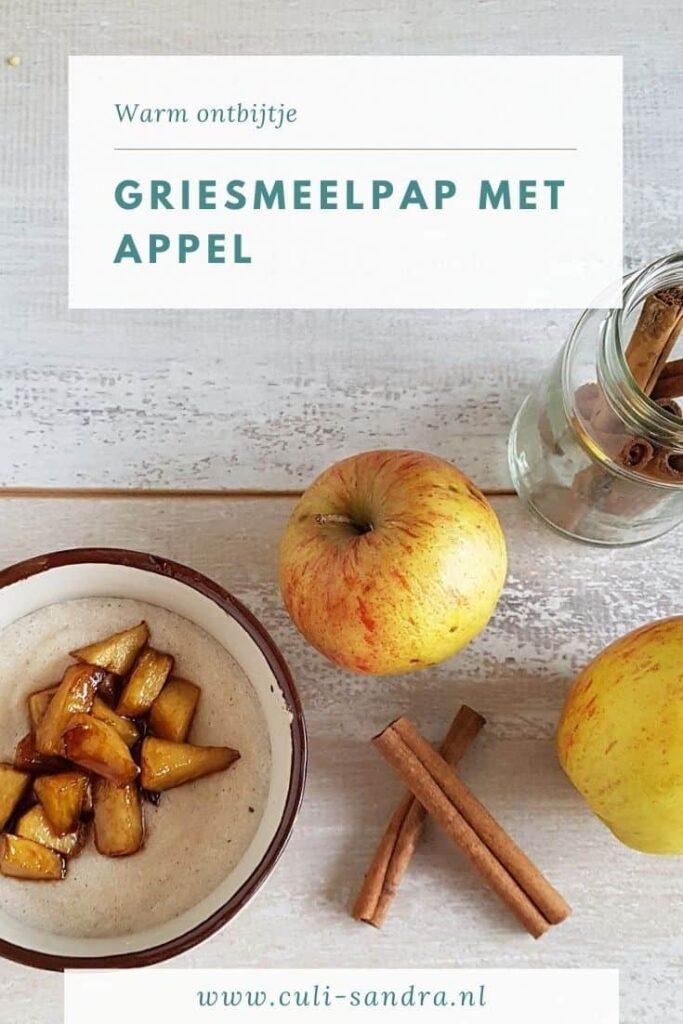 Recept griesmeelpap met appel