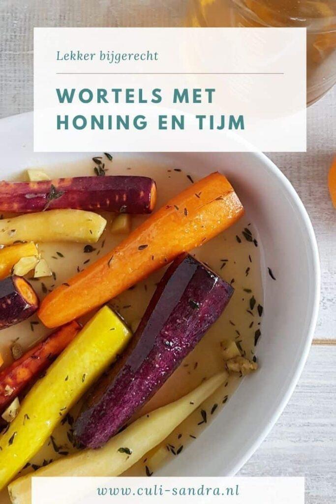 Recept wortels met honing en tijm
