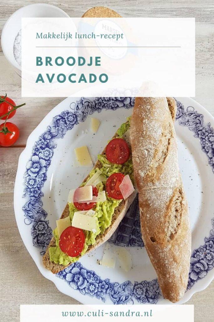 Recept broodje avocado