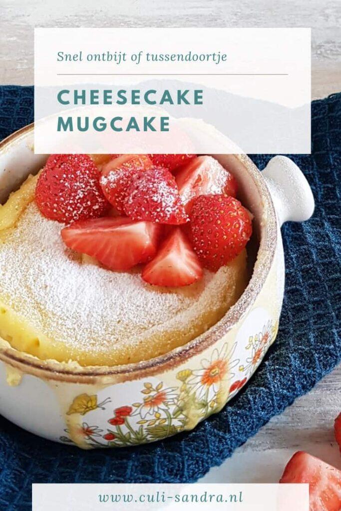 Recept cheesecake mugcake
